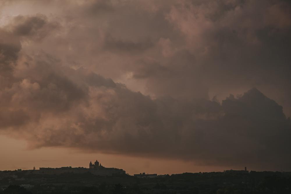 Mdina under dramatic skies