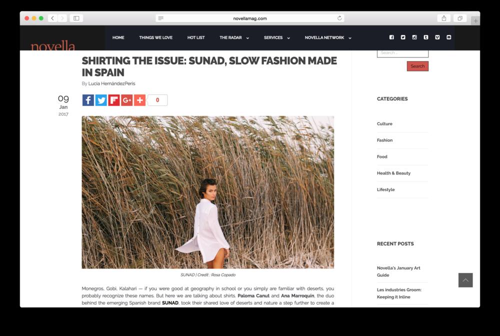 5 cosas que saber de SUNAD en  Novella Magazine
