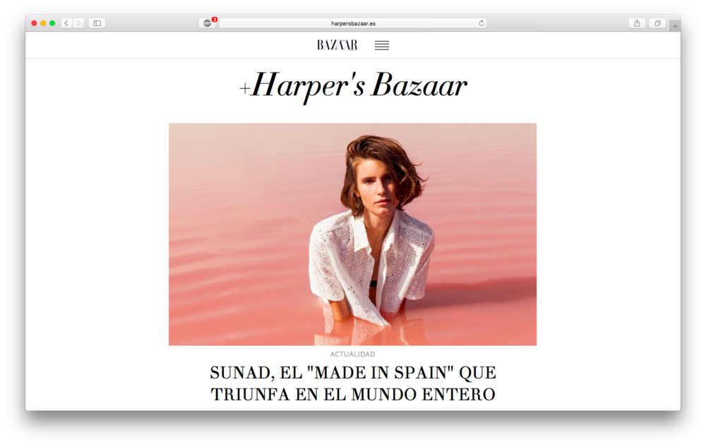 Featured in Harper's Bazaar Spain