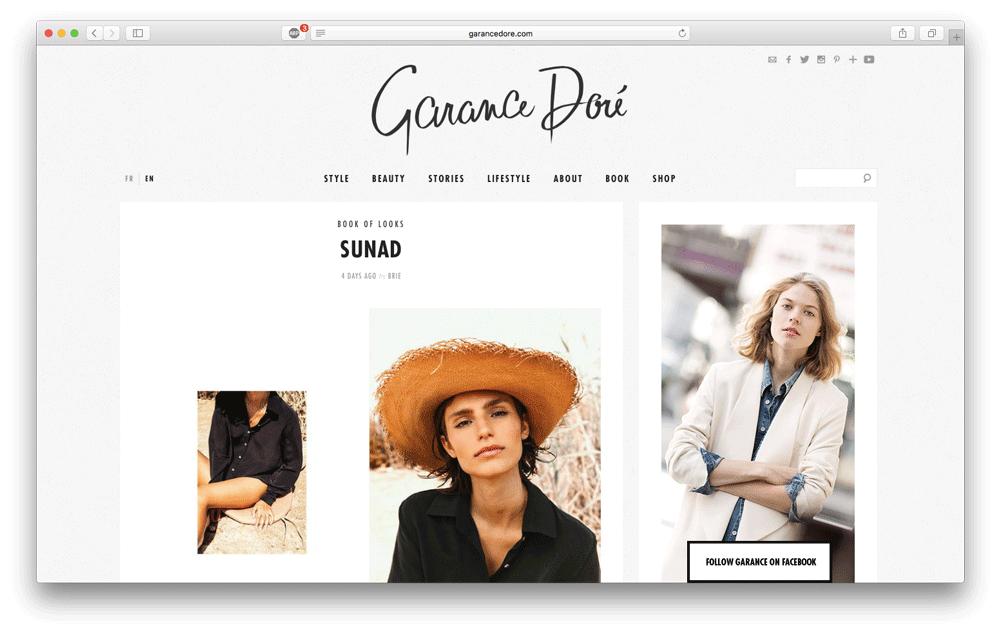 Artículo en el blog de  Garance Doré