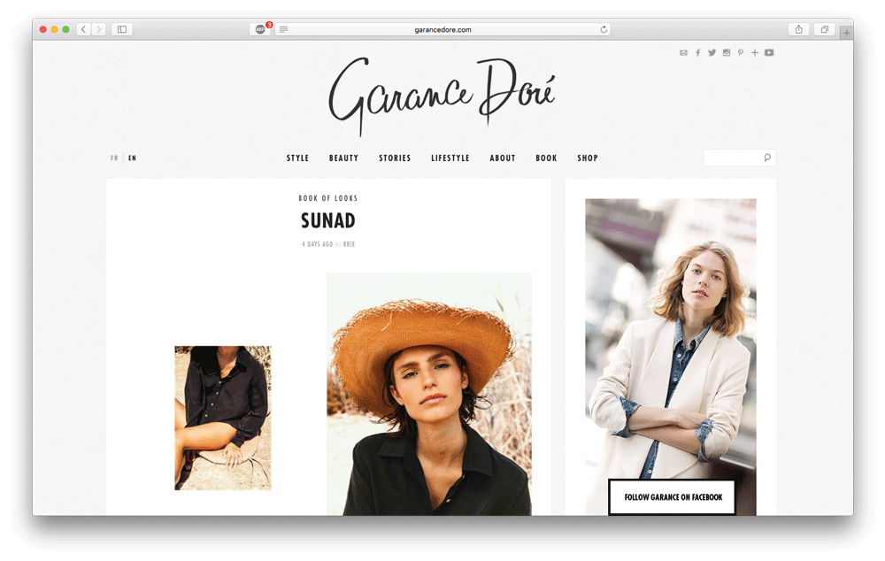 Featured in  Garance Doré' s blog