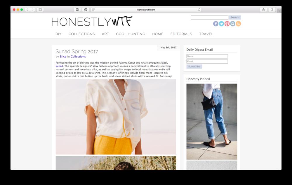 Artículo en el blog de diseño  Honestly WTF