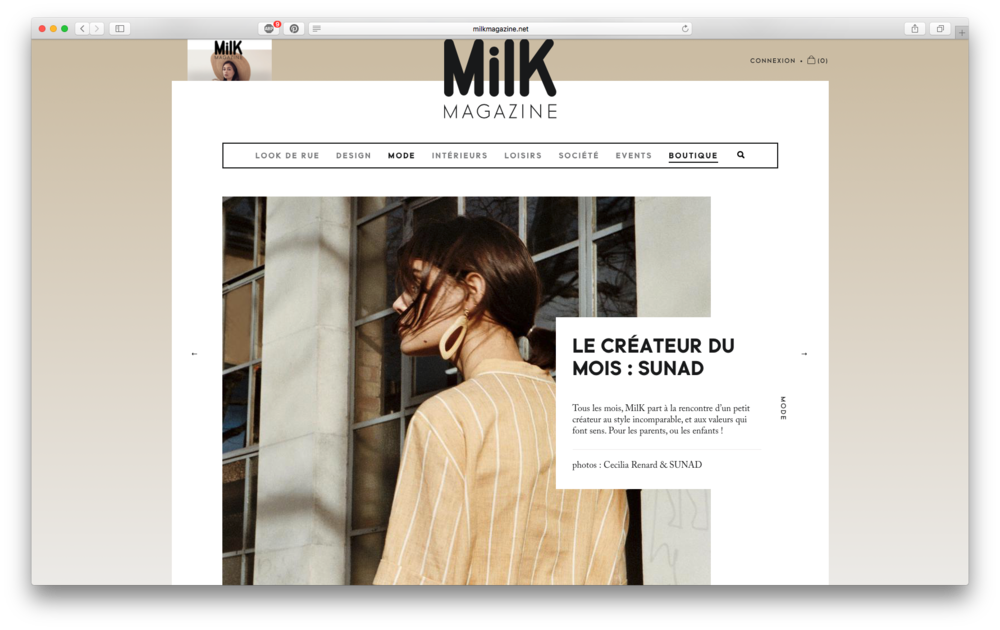 Featured as Designer of the Month in Milk Magazine