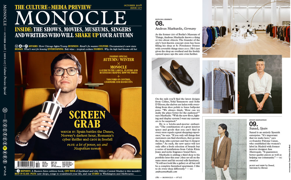 Sunad's AW18 Zuma Montaña featured in Monocle