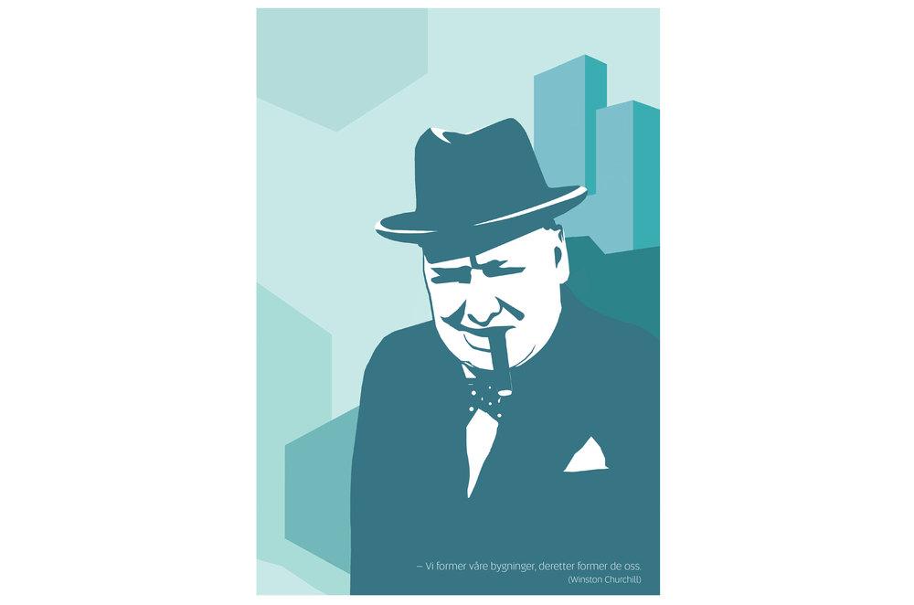 Illustrasjon Churchill
