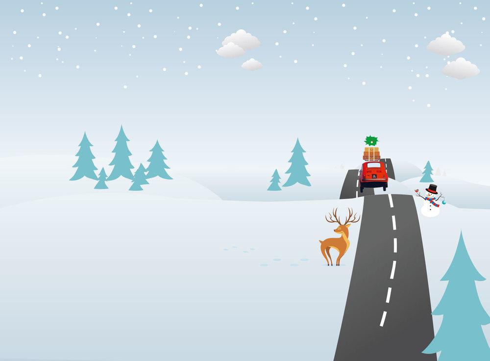 Bilextra juleillustrasjon