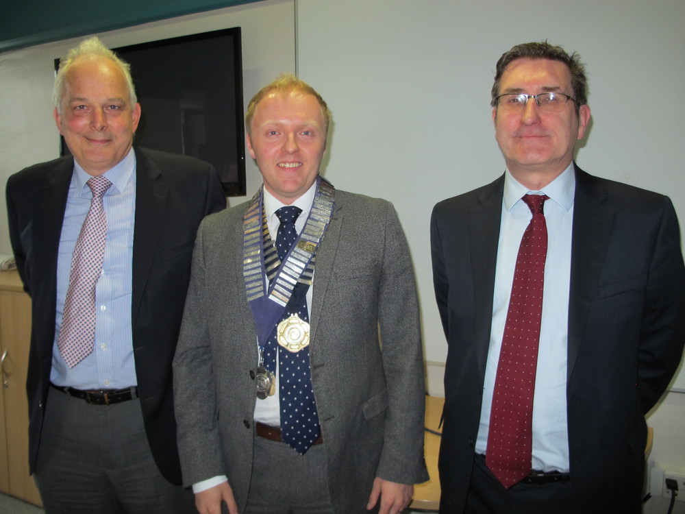 New Scotland Chair Steven Revill (Centre), flanked by past Chairs, David Taylor (left) and Ryan Hutchison (right).