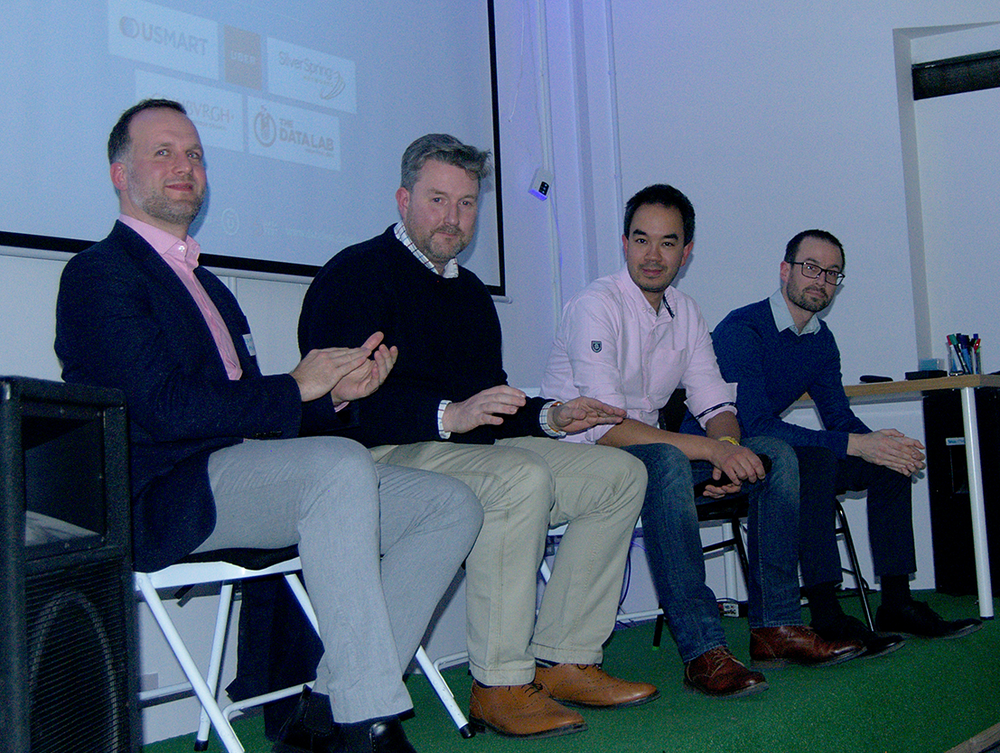 Our panel of speakers during the Q&A session