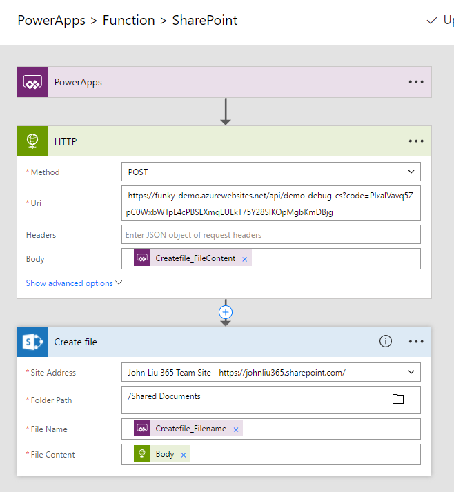 powerapps patch image to sharepoint