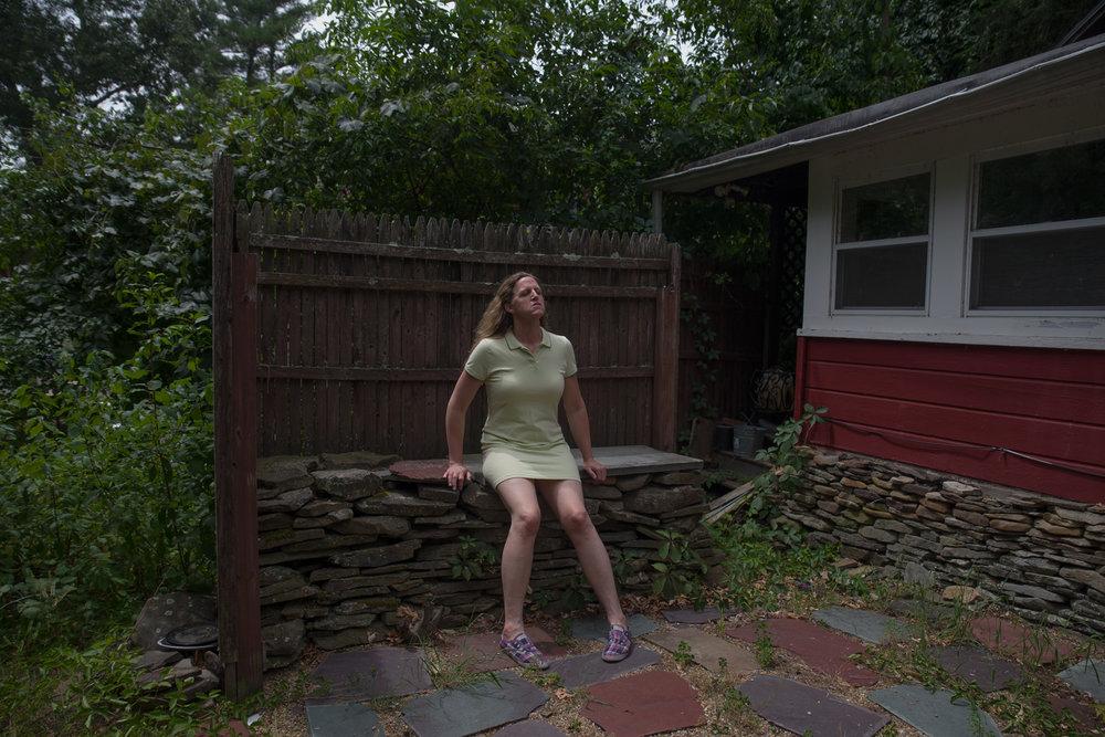 Lorelei, in the backyard, 2016