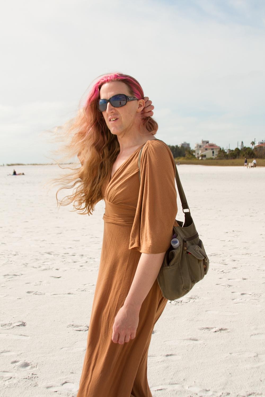 Lorelei, on the beach, 2013