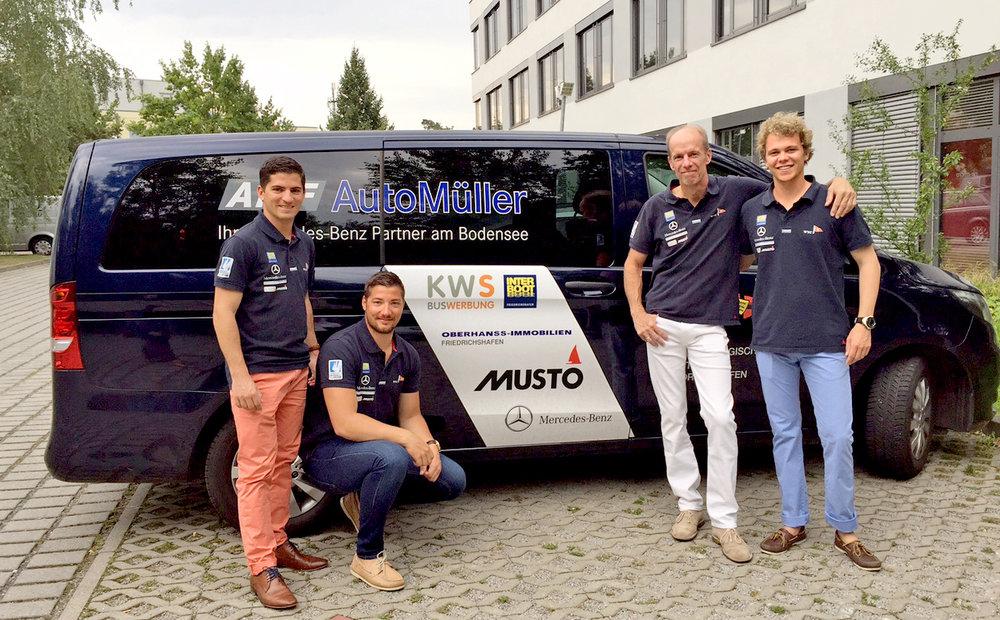 Das WYC-Team (von rechts) mit Yannick Hafner, Christian Severens, Kevin und Dennis Mehlig. Foto: WYC