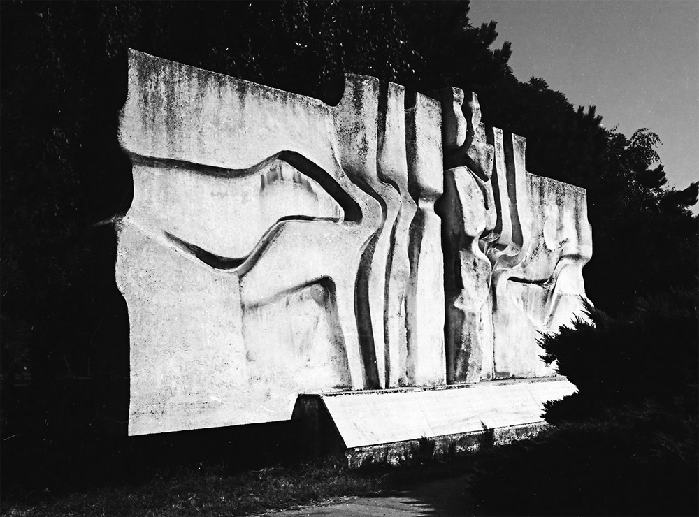 Memorial of the Martyrs     white concrete Komárno 1970 length: 750 cm
