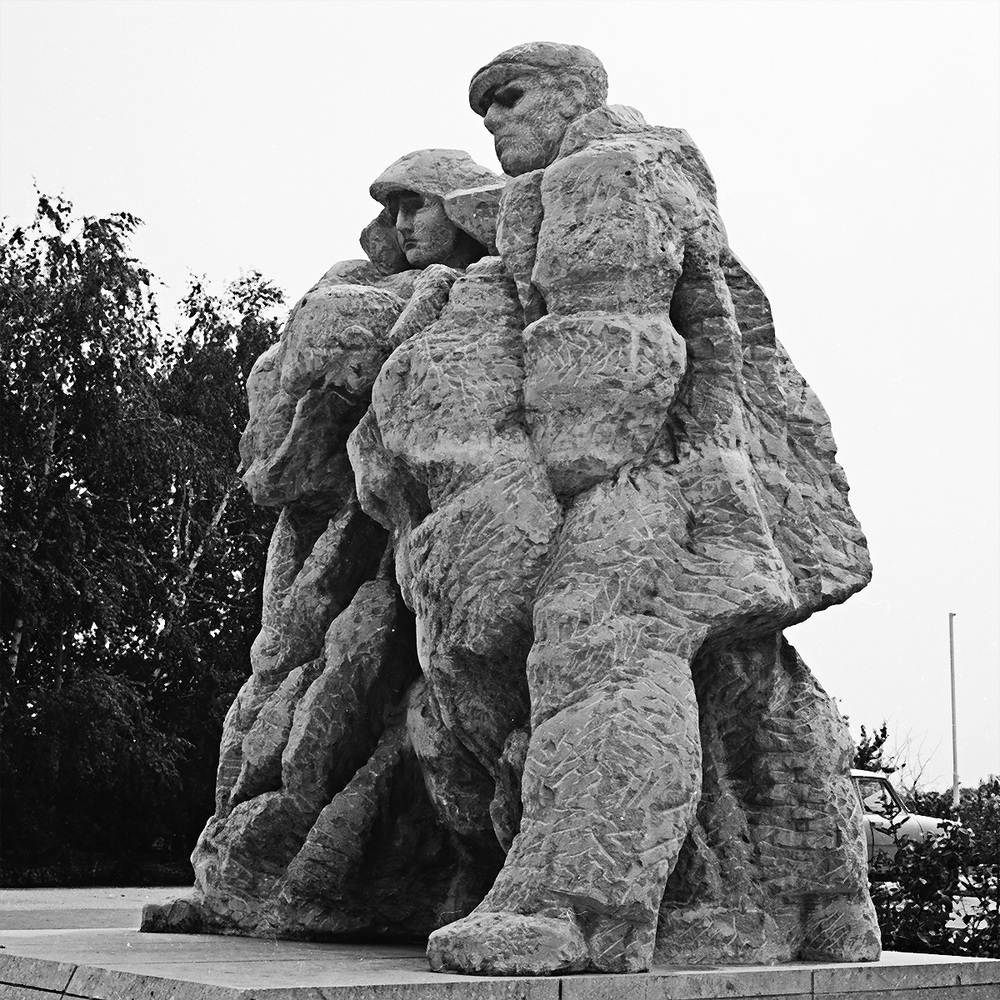 Memorial of the Peasant rebellion in 1931     stone Košuty 1981 530 cm