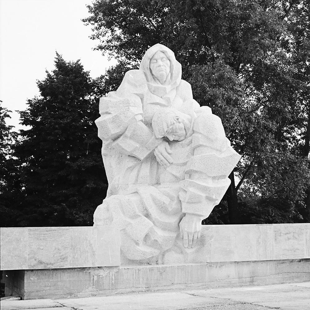 Pieta     stone Štúrovo, military cemetary 1987 600 x 270 x 220 cm