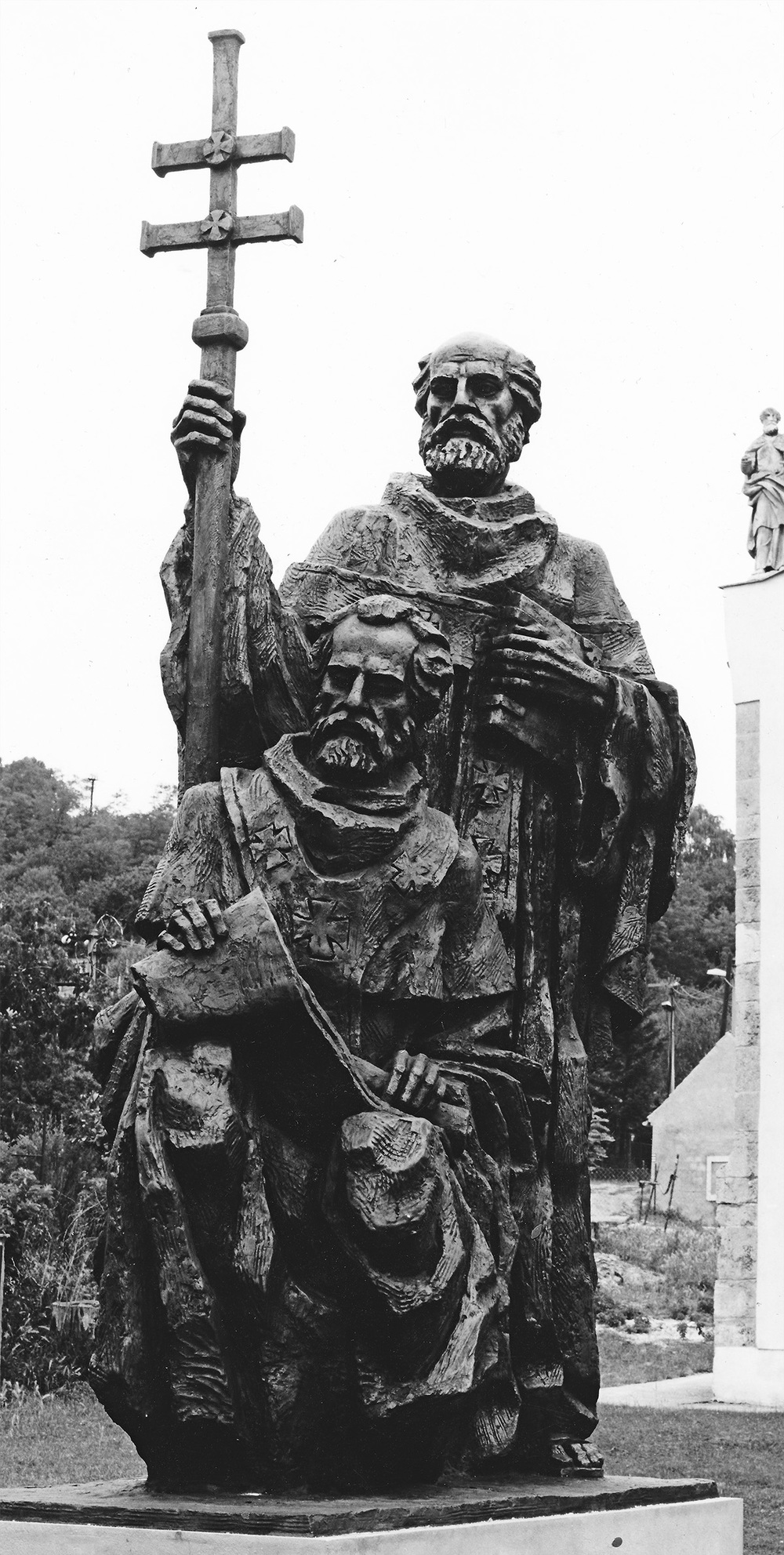 St. Cyril & Metodius   plaster 1992 / 1993   Was destroyed by the author when the sculpture hadn't received promised funding for a bronze cast from the newly established Slovak government.
