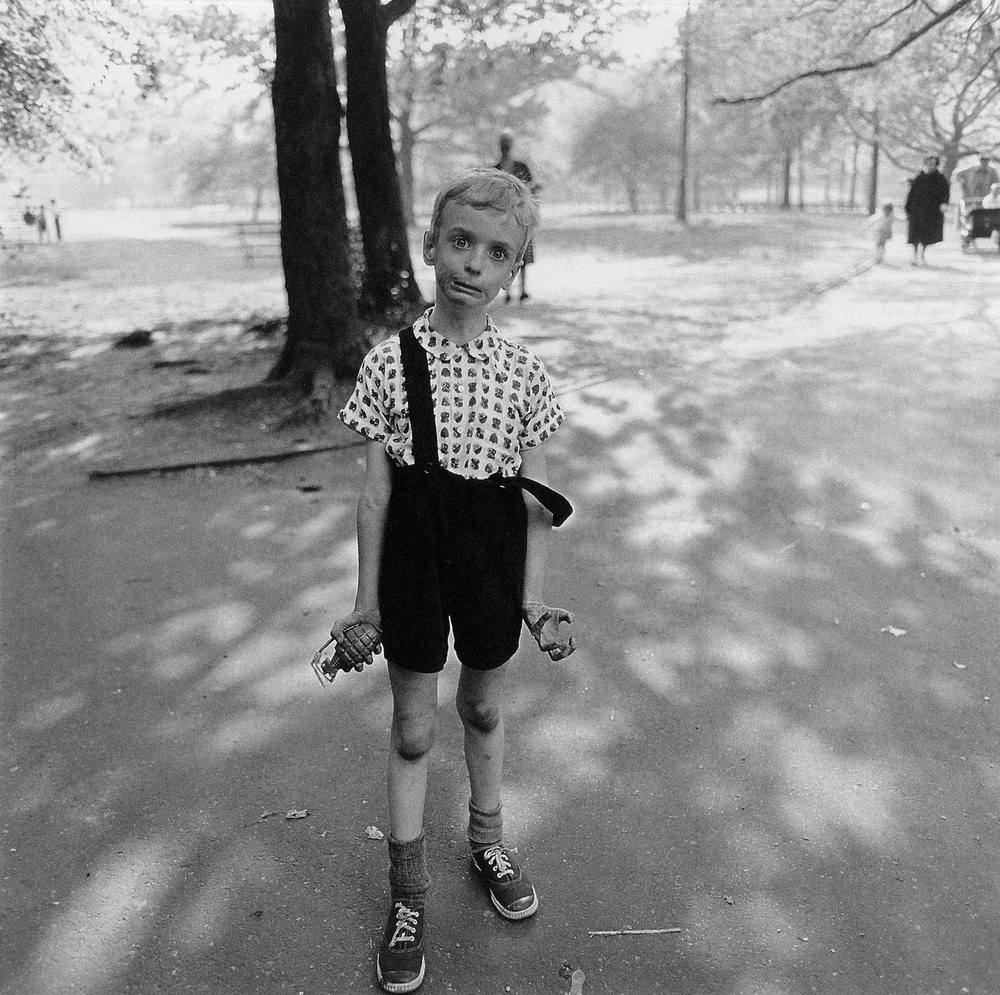 Child with Toy Hand Grenade in Central Park , N.Y.C. 1962