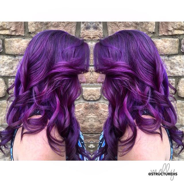 💜 PURPLE HAZE 💜 by Molly { @mollyj129 } #purplehair #structurehs