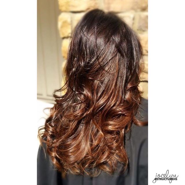 🍫Dark ---  milk chocolate color melt by Jocelyn { @jocsalon } #colormelt #topcolorists #brunette #structurehs
