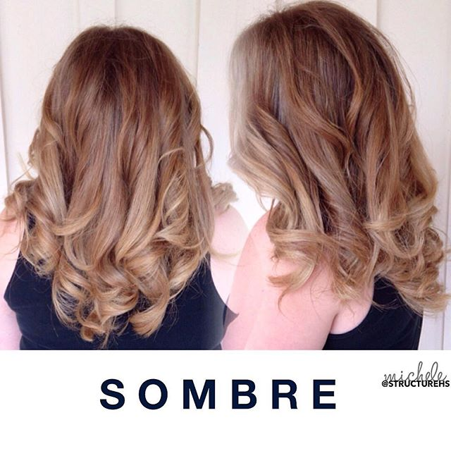 S O M B R E - Soft Ombre, a gradual fade from natural color at roots to lighter color on ends by Michele { @chelegranger } . #sombre #structurehs 🙌🏼