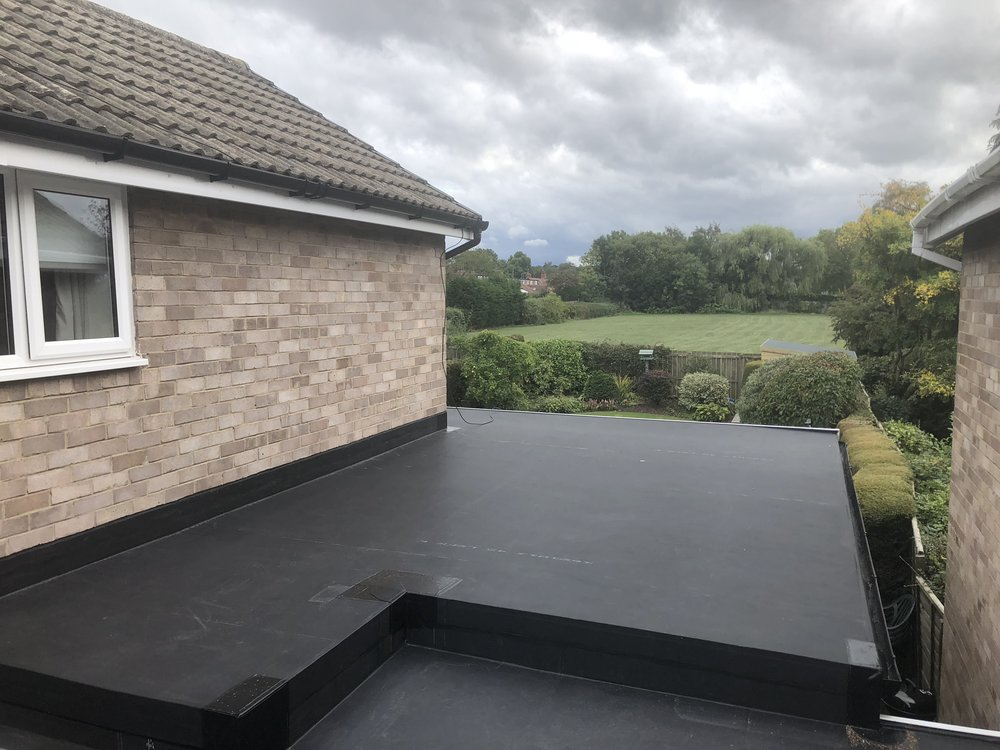 New Garage Flat Roof Replacement Ponteland, Newcastle Upon Tyne.