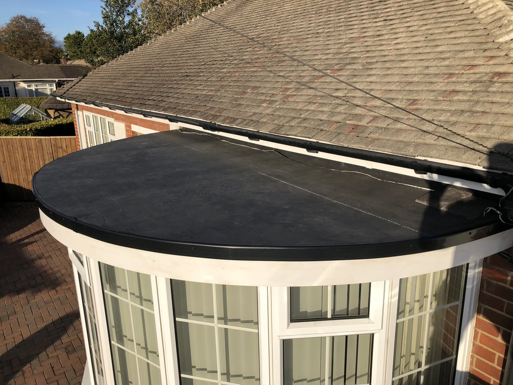 EPDM Bay Window Flat Roof in Gosforth