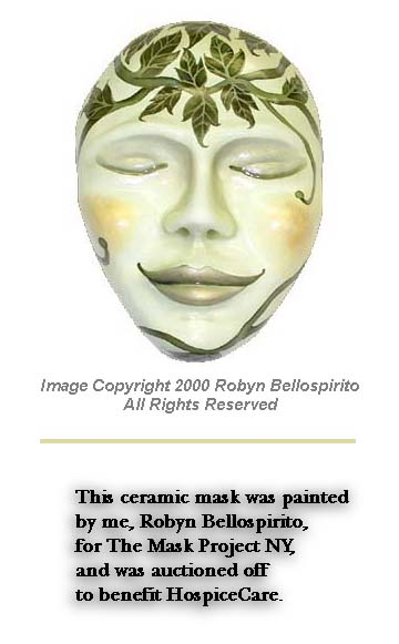 This ceramic mask was provided to me as part of The Mask Project NY. I painted it in oils.