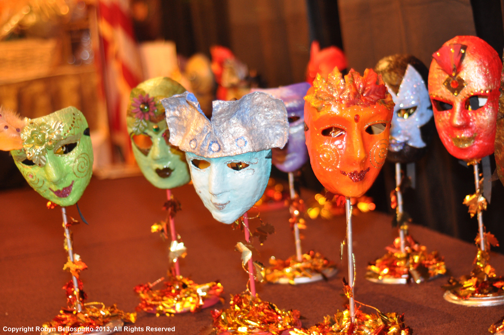 Papier-mache masks