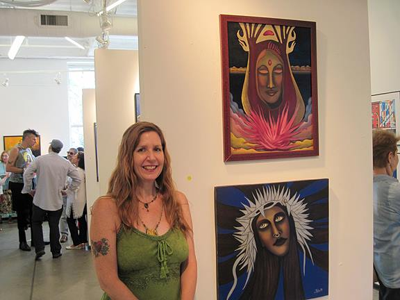 "At the ""Fierce"" exhibition at Artspace Patchogue in Patchogue, NY, July 2015."