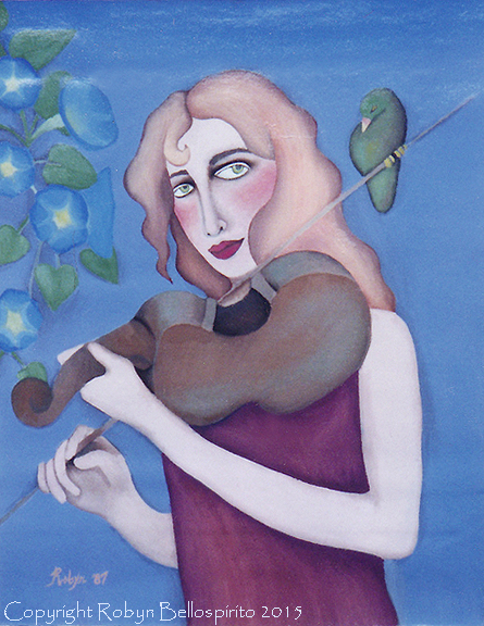 """Lady with a Violin"""