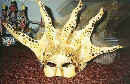 Papier Mache Sun Mask