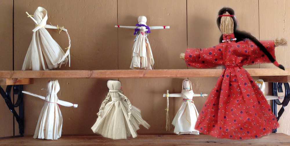 I did not make the dolls in the photo above, but they are similar to what I made for a friend.
