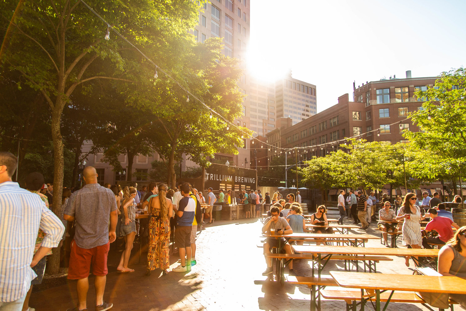 Garden on the Greenway — Trillium Brewing Company
