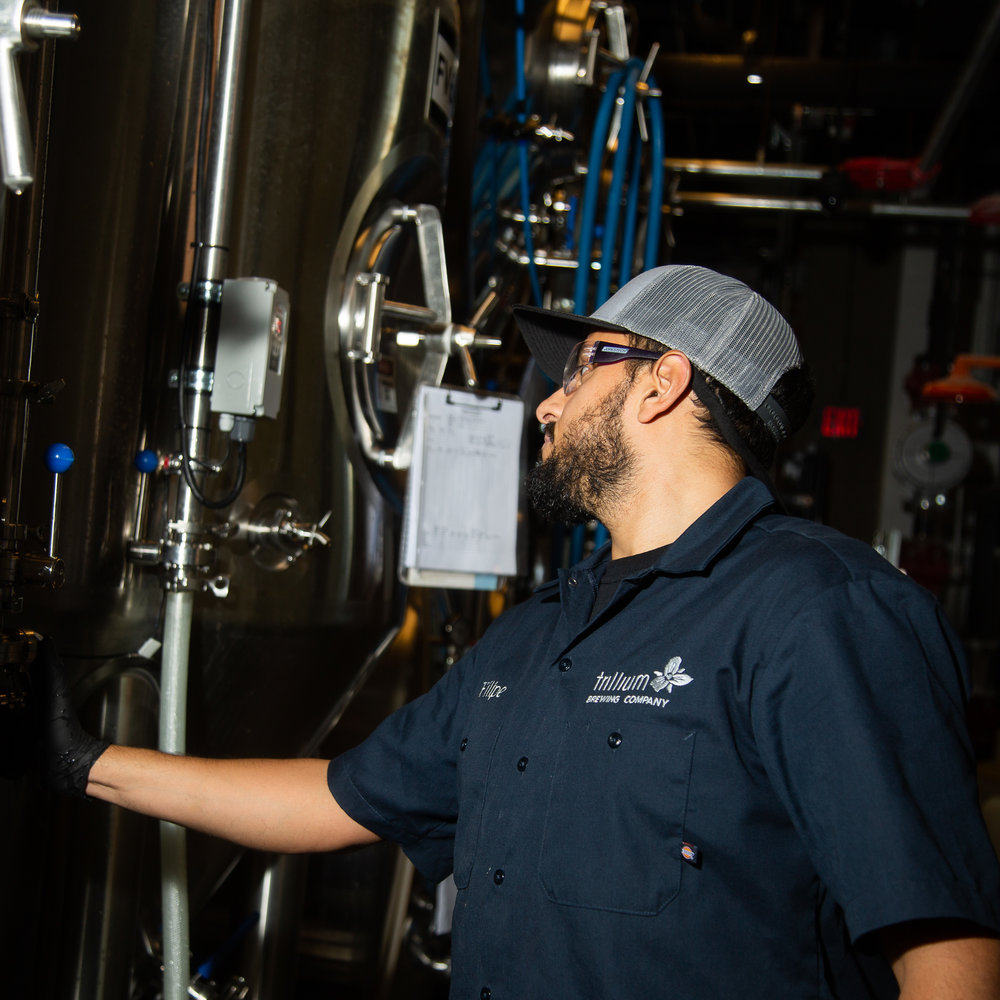 Filipe Garcia working in the wild beer cellar