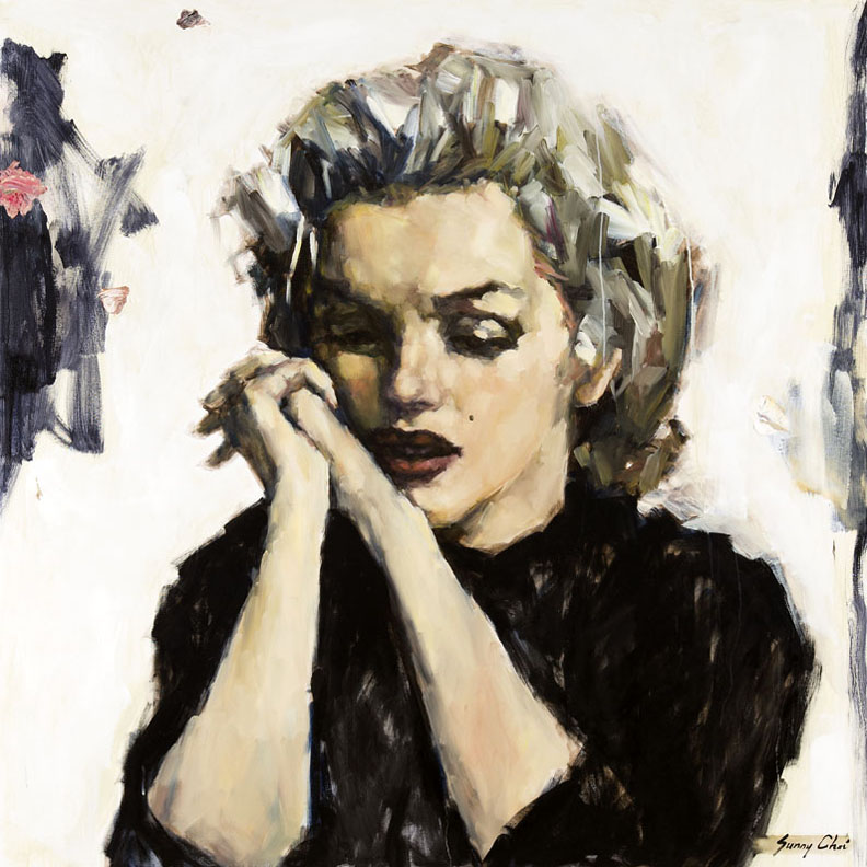 Marilyn - Reflection - 60 x 60 inches, Oil and Acrylic on Canvas