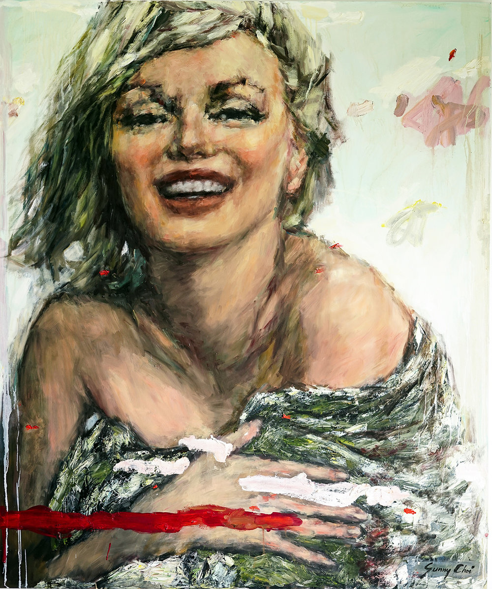 Marilyn, Happy - 72 x 60 inches, Oil and Acrylic on Canvas