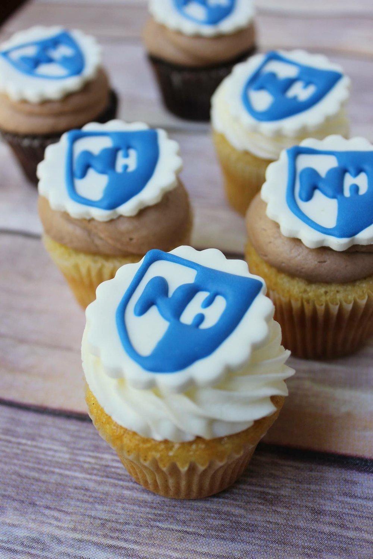 UNH Logo Cupcakes $36 -