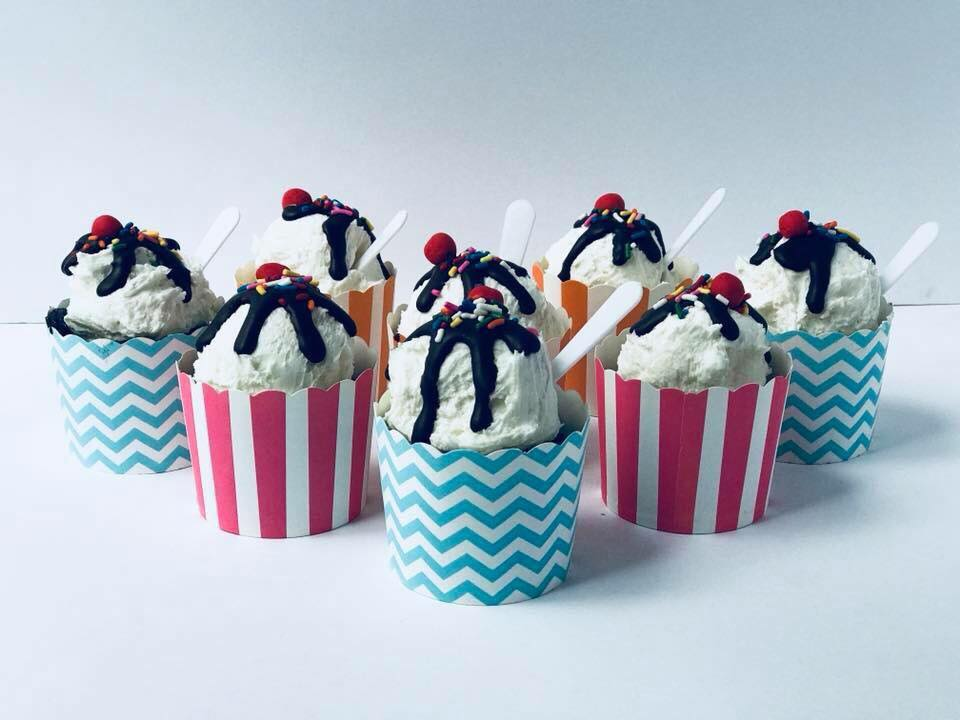 Ice Cream Sunday Cupcakes $36 -