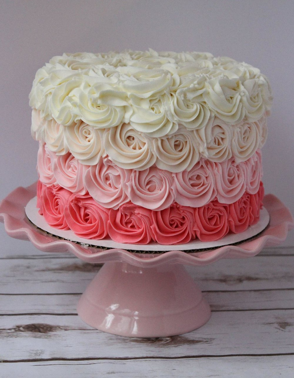 Ombre Rosette Cake - Let us know what color ombre you would like!6 inch $458 inch $559 inch $65