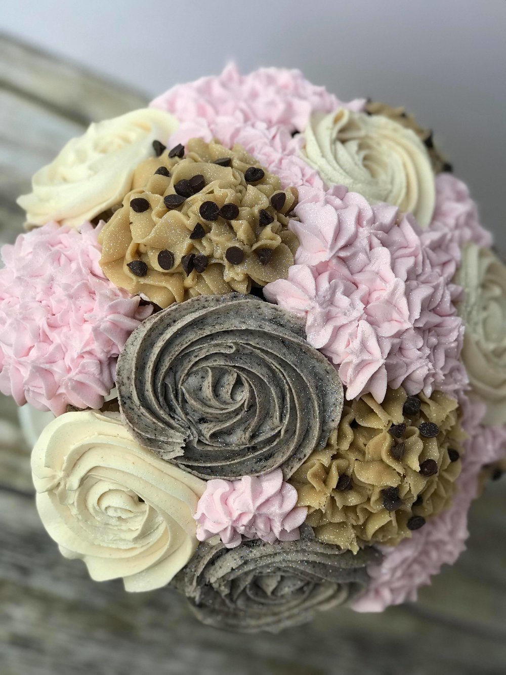 Cupcake Bouquet $50 - Large Bouquet 12-14 cupcakes