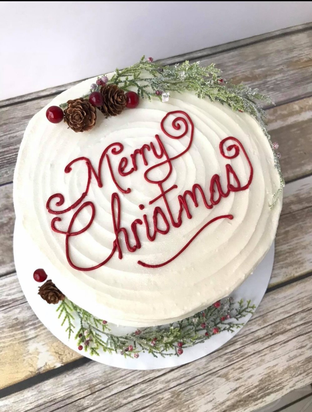 Merry Christmas Cake - $45 6 inch$55 8 inch$65 9 inch