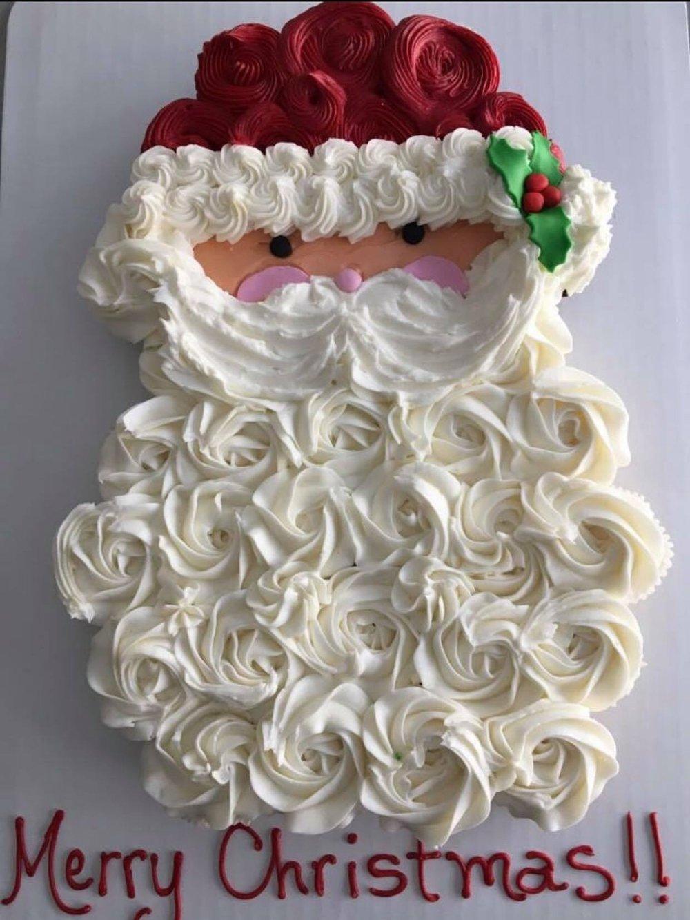 Santa Cupcake Cake - $55 3 dozen mini cupcakes$85 3 dozen regular cupcakes
