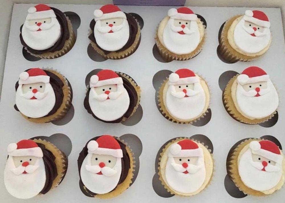 Santa Cupcakes - $42/ dozen