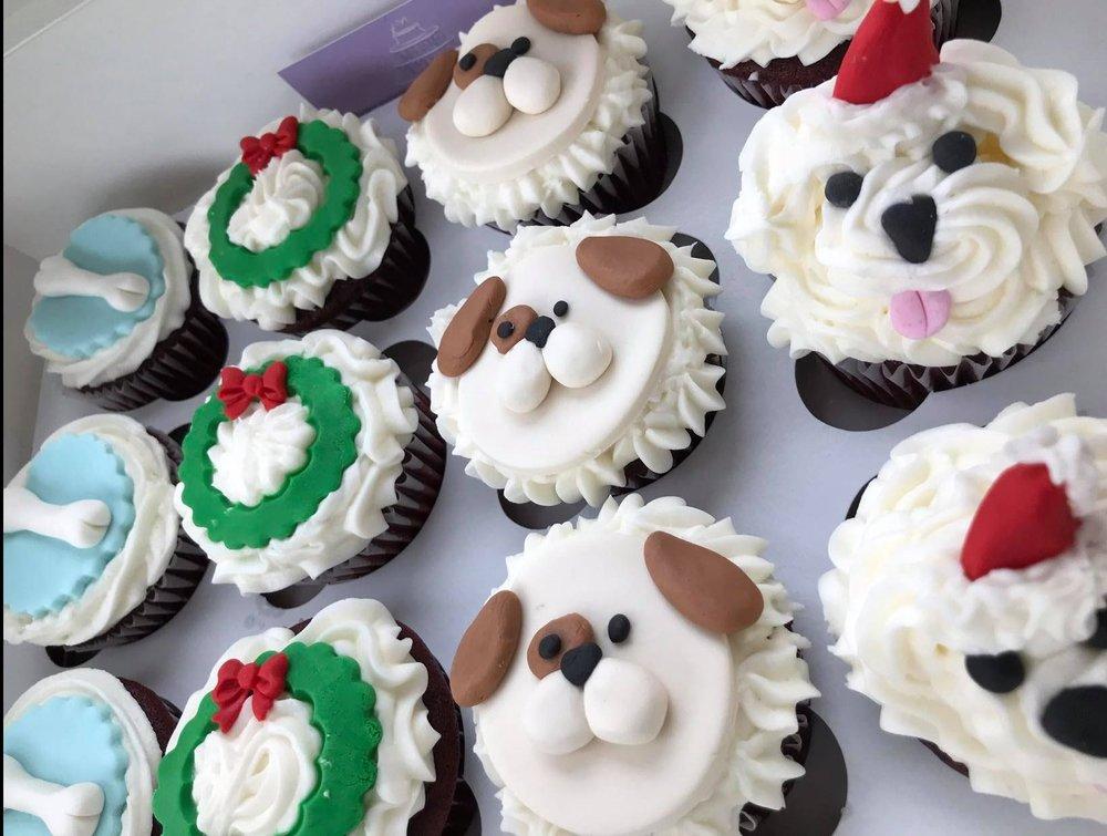 Christmas Puppy Love Cupcakes - $42/dozen