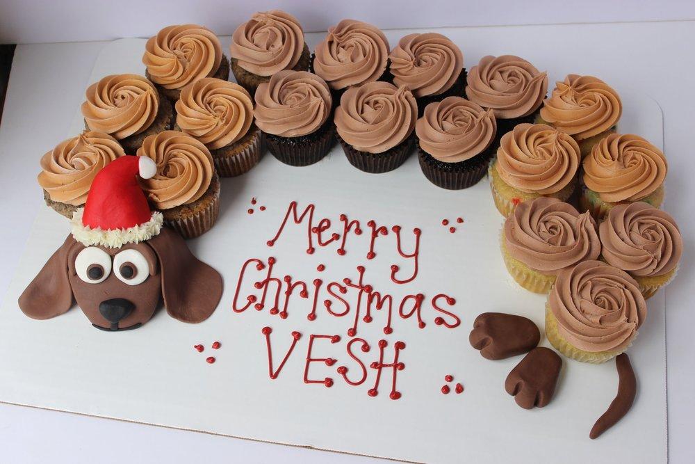 Christmas Pupcake Cake - $55 18 cupcakes