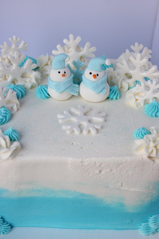 Snowy Snowman Cake - $50 6 inch$60 8 inch$70 9 inch
