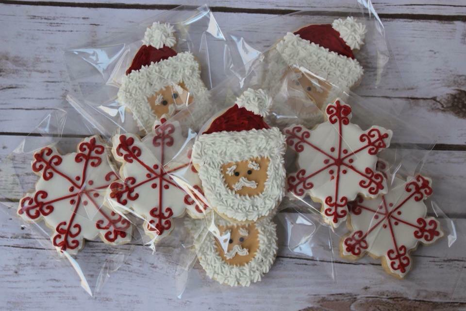 Snowy Santa Cookies - $36/dozen