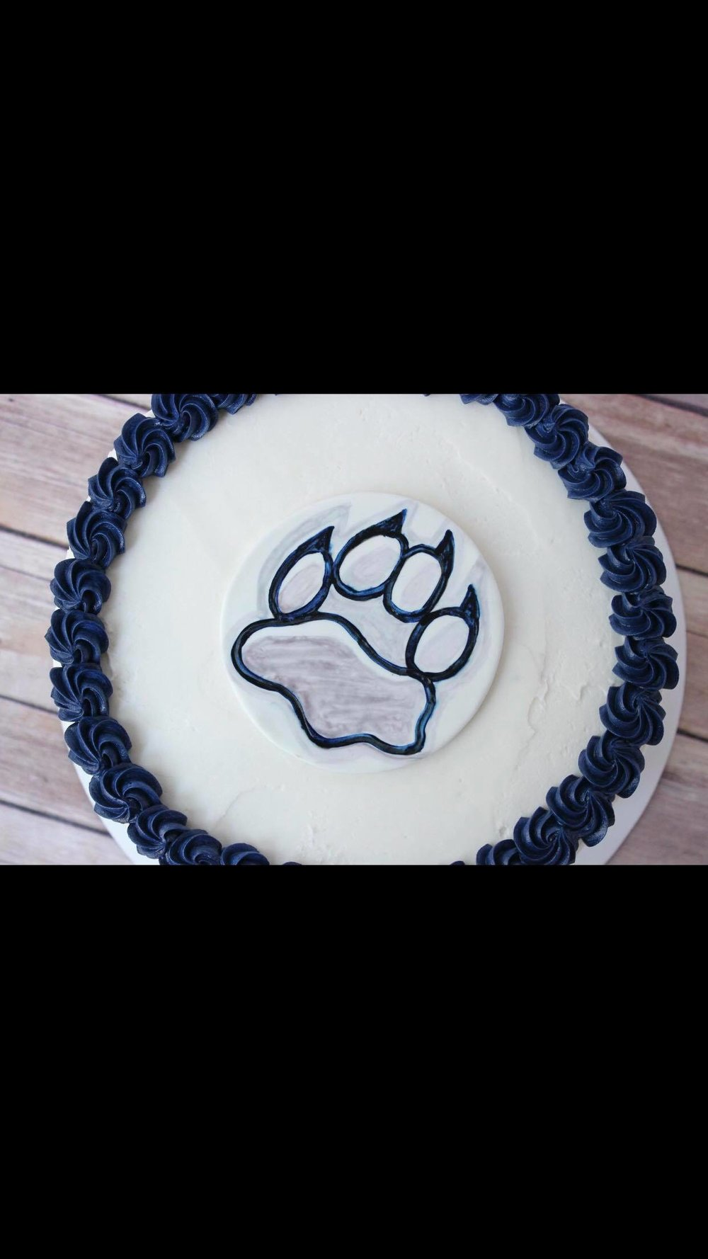 Wildcat Grad Cake - Congratulatory message can be added upon request!!$50 6 inch$60 8 inch$75 9 inch