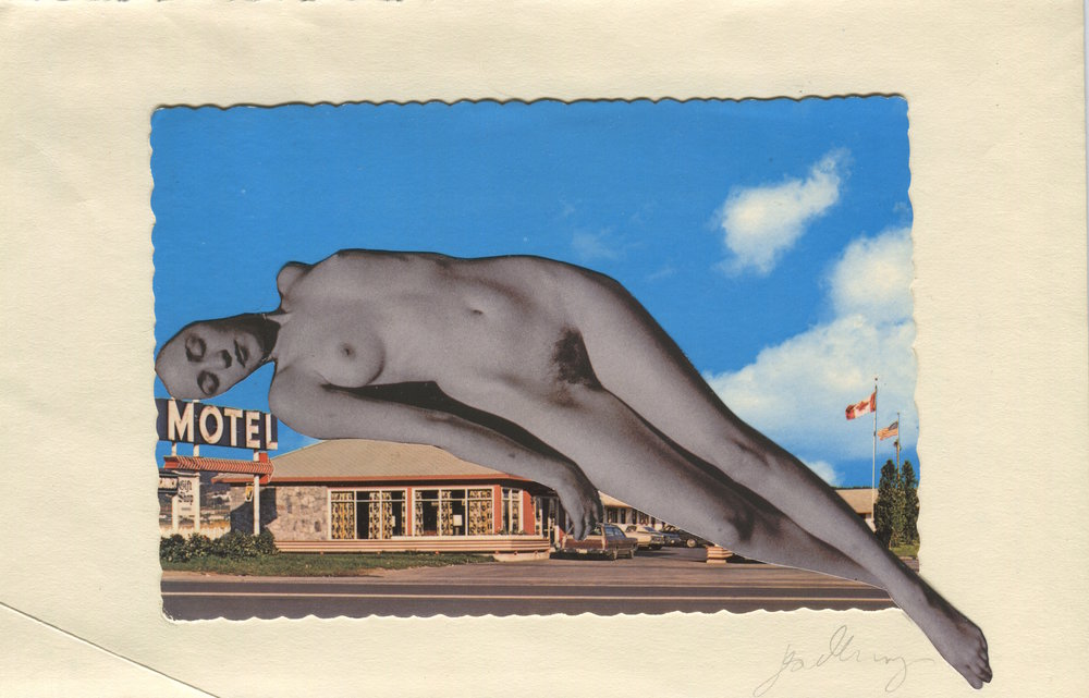 Motel, Collage print on paper, 21x29.7cm
