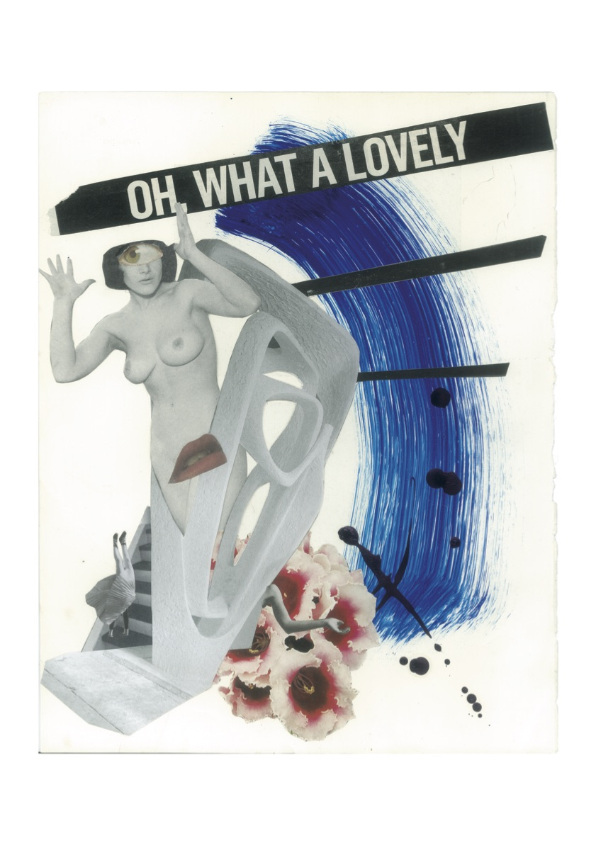 Oh What a Lovely, Collage print on paper, 42x29.7cm